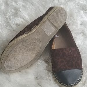 Mossimo animal print/leather espadrille